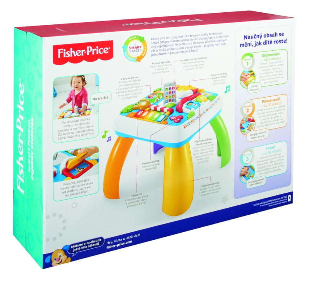 Fisher-Price Pejskův stoleček Smart Stages CZ/EN - rozbaleno