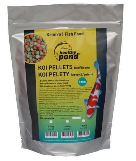 Healthy Pond Plovoucí pelety červené/zelené 5mm 5L