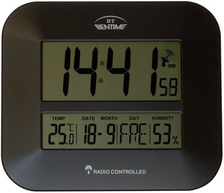 Bentime Zegar sterowany radiem H15-ET843G