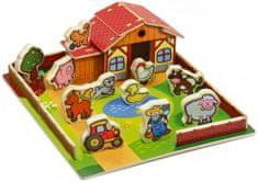 Teddies Drewniany domek zwierzęta