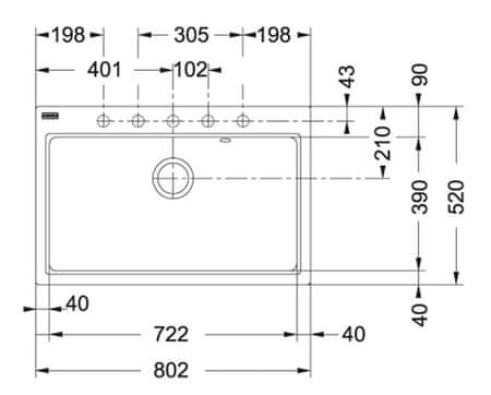 FRANKE zlewozmywak granitowy FIG 610-80, grafitowy (114.0367.660)