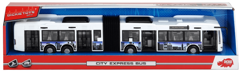 Dickie Autobus City Express 46 cm - bílý