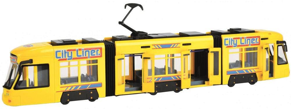 Dickie Tramvaj 46 cm - žlutá