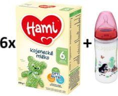 Hami 6+ 6 x 600 g + NUK fľaša Krtko 300 ml
