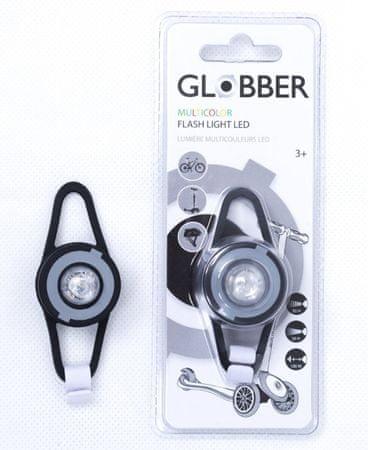 Globber LED svetilka za skiro, črna