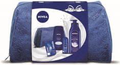 Nivea Creme Care Sprchový gel 250 ml + Protect&Care Kuličkový antiperspirant + Výživné tělové mléko 400 ml