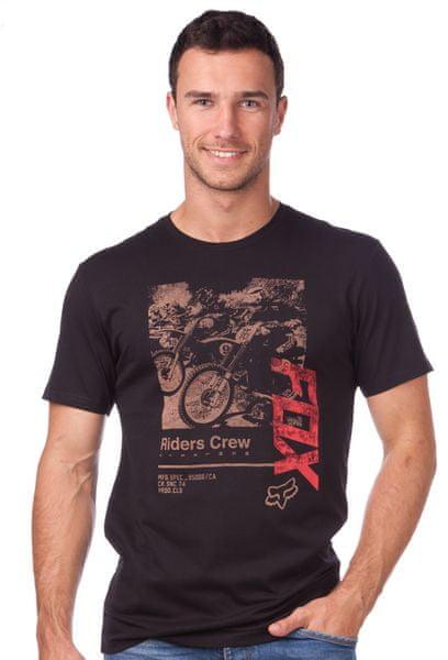 FOX pánské tričko Black Cherry Ss Tee S černá
