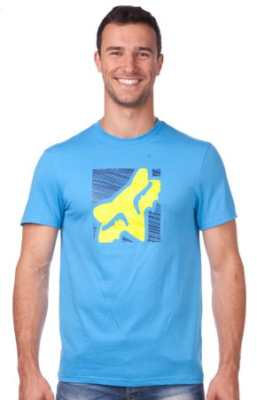 FOX férfi póló Conjunction Ss Tech Tee M kék