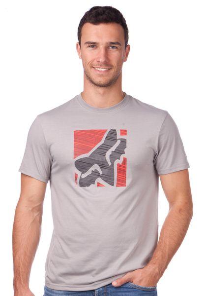 FOX pánské tričko Conjunction Ss Tech Tee S šedá