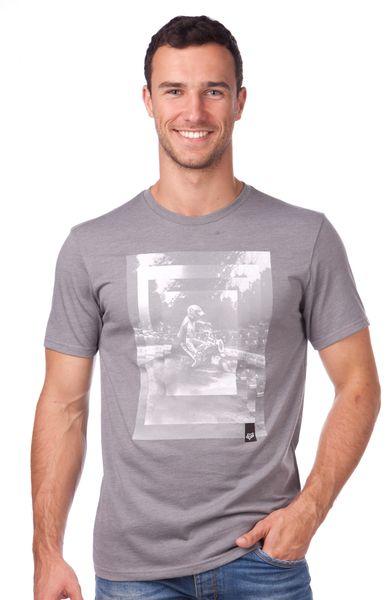FOX pánské tričko Back Ss Tee L šedá