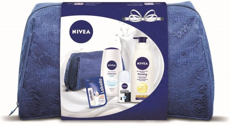 Nivea Q10 Tělové mléko 400 ml + Creme Soft Sprchový gel 250 ml + Antiperspirant 50 ml + Labello