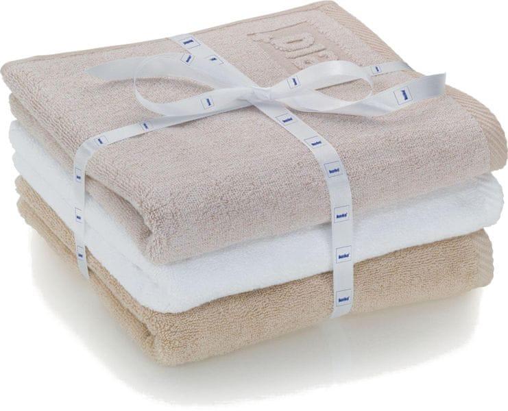 Kela sada 3ks ručníků LADESSA - béžová