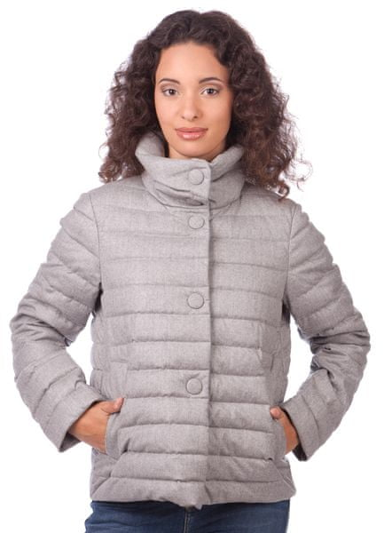 Geox dámská péřová bunda M šedá