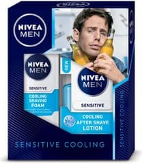 Nivea Sensitive Cooling pěna na holení 200ml + Sensitive Cooling voda po holení 100ml Dárková sada