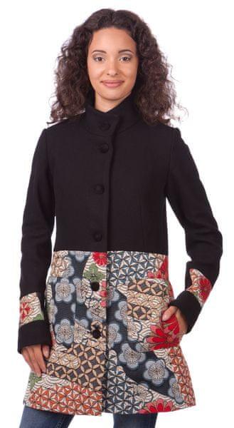 Desigual dámský kabát 38 černá