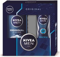 Nivea Men Original Care Shower Gel 250ml + Men Fresh Active Antiperspirant Deodorant 150ml + Men creme 30m