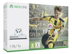 Microsoft igralna konzola Xbox One S 1TB + igra FIFA 17