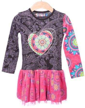 Desigual dekliška obleka 152 večbarvna