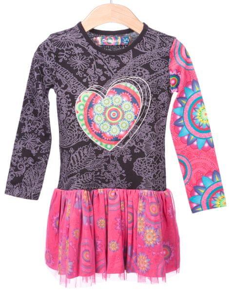 Desigual dívčí šaty 116 vícebarevná