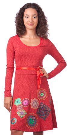 Desigual ženska obleka M rdeča
