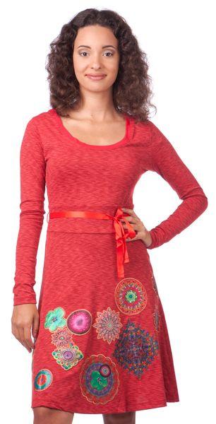 Desigual dámské šaty M červená