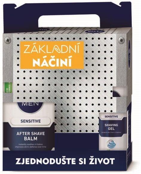 Nivea MEN Tool Box Sensitive gel 200 ml + Balzám 100 ml + Roll-on 50 ml + Krém 150 ml