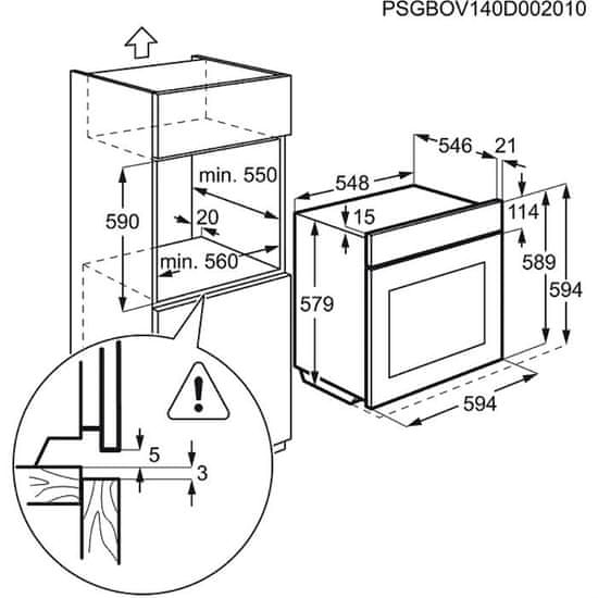 Electrolux vgradna kombinirana parna pečica EOB9956XAX