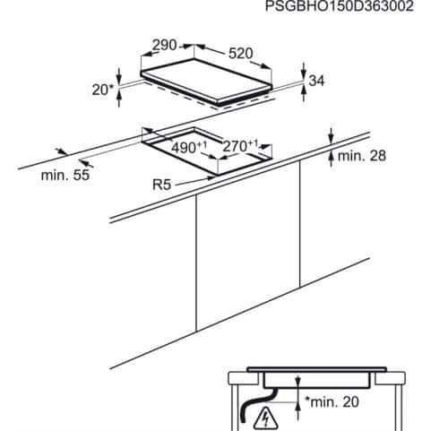 Electrolux steklokeramična kuhalna plošča EHF3320NOK