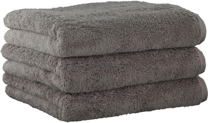 Joop! 3ks ručníky 50x100 cm,doubleface tmavě šedá