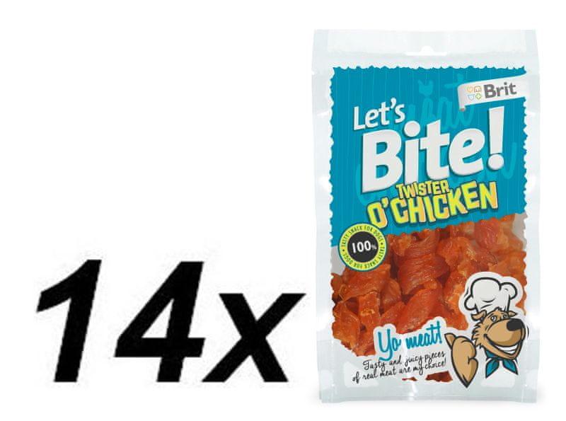 Brit Lets Bite Twister o'Chicken 14x80 g