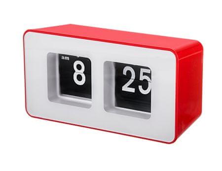 Camry zegar klapkowy auto-flipCR 1131 red