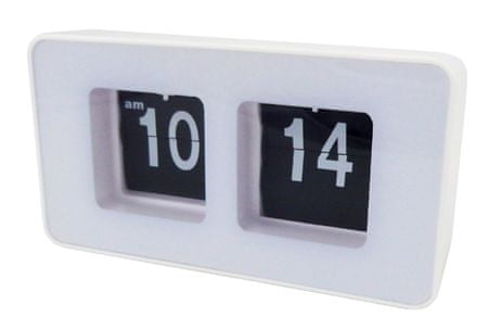 Camry zegar klapkowy auto-flip CR 1131 white