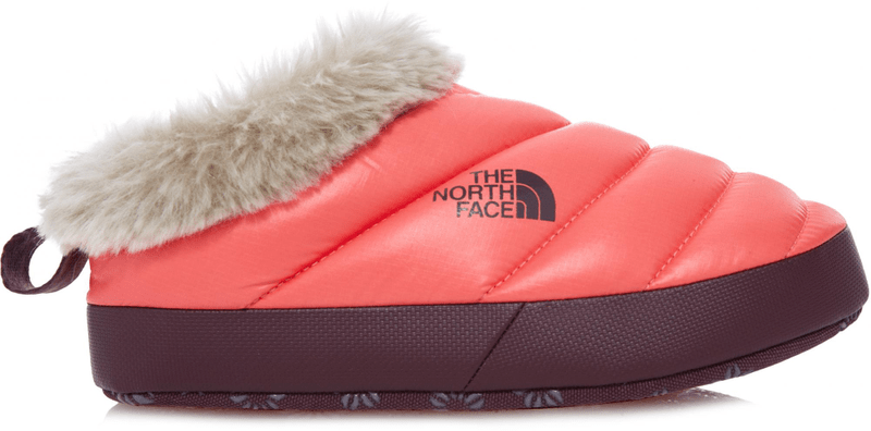 The North Face W Nse Tent Mule Faux Fur II Shiny calypso coral/Deep garnet red XS