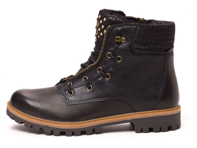 Tamaris dámská kotníčková obuv 39 černá
