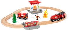 Brio Zestaw z kolejką straży pożarnej 33815
