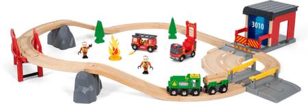 Brio Sürgősségi tűzoltós játékvonat készlet