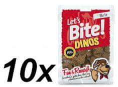 Brit przysmak dla psa Lets Bite Dinos 10x150 g