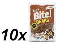 Brit przysmak dla psa Lets Bite Bears 10x150 g