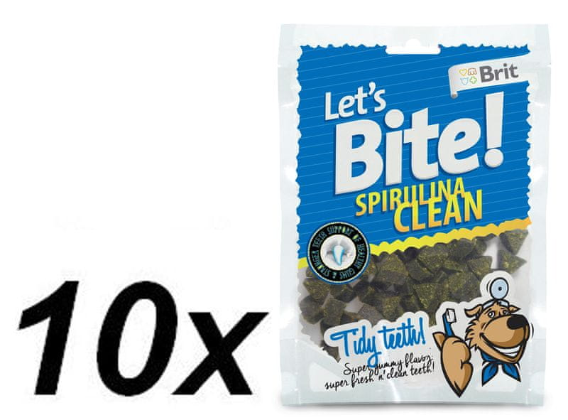 Brit Lets Bite Spirulina Clean 10x150 g