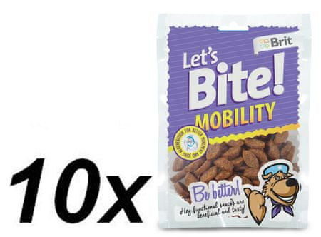 Brit przysmak dla psa Lets Bite Mobility 10x150 g