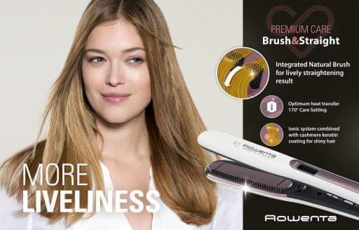 Rowenta likalnik za lase Premium Care Brush & Straight SF7510F0