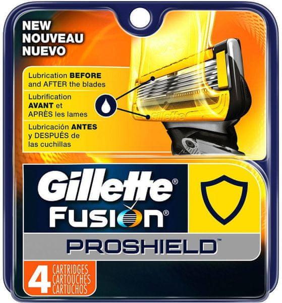 Gillette Fusion Proshield náhradní hlavice 4 ks