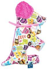 CuddlyZOO Pluszowe zwierzątko Pies - sowy, różowe