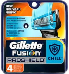 Gillette Fusion Proshield Chill Borotvafej, 4 db