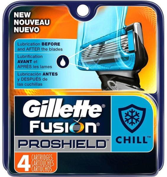 Gillette Fusion Proshield Chill náhradní hlavice 4 ks