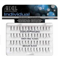 Ardell zestaw Individual 56 kępek rzęs Medium Black x6