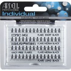 Ardell zestaw Individual Combo Pack 56 kępek rzęs Black x6