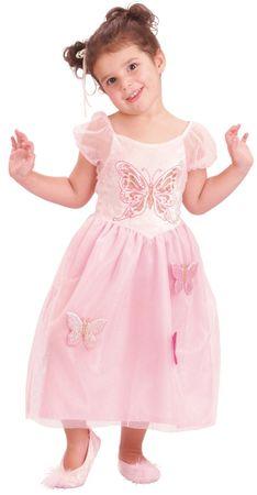 MaDe kostum Princesa z metulji, roza, XS