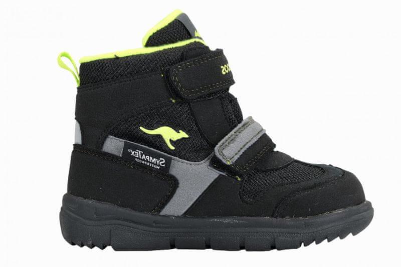 KangaROOS dětská zimní kotníčková obuv Winni 25 černá