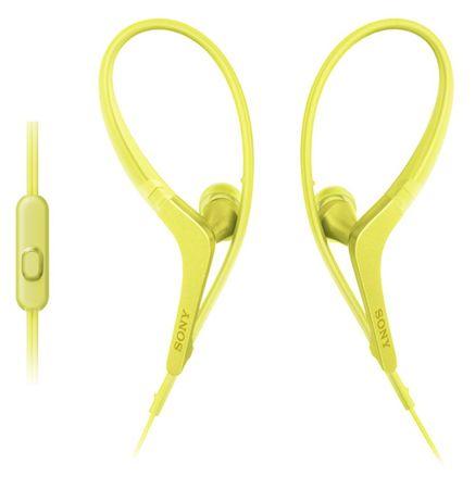 SONY słuchawki MDR-AS410AP, żółty